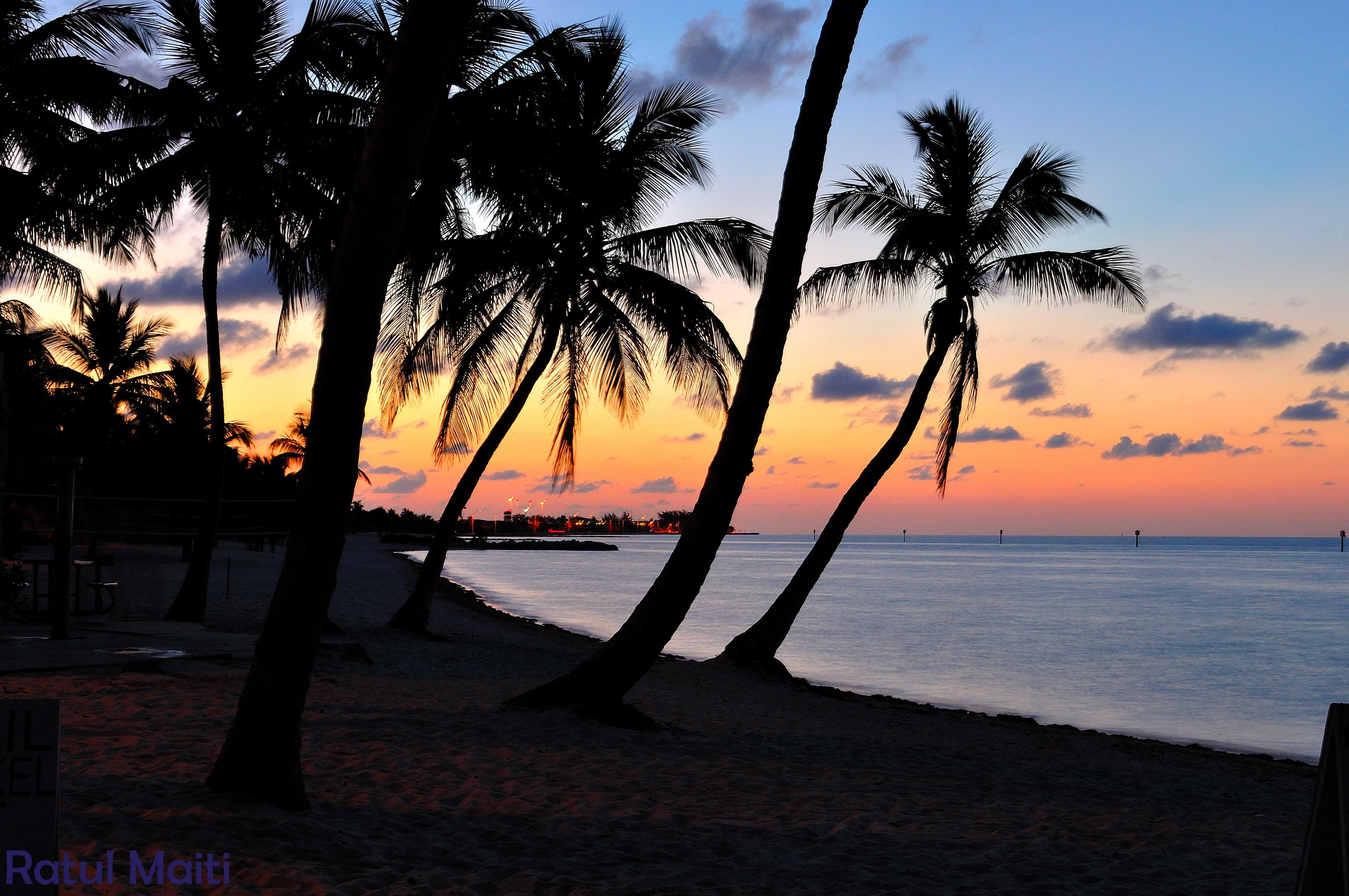 coucher de soleil dans les Keys