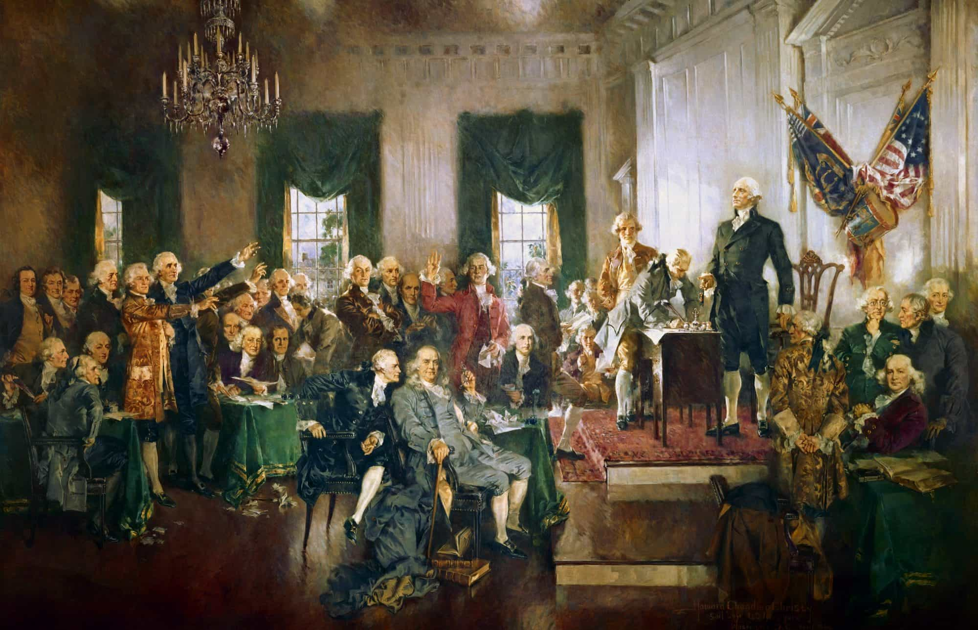 scène de la déclaration d'indépendance