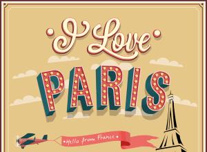 panneau i love paris