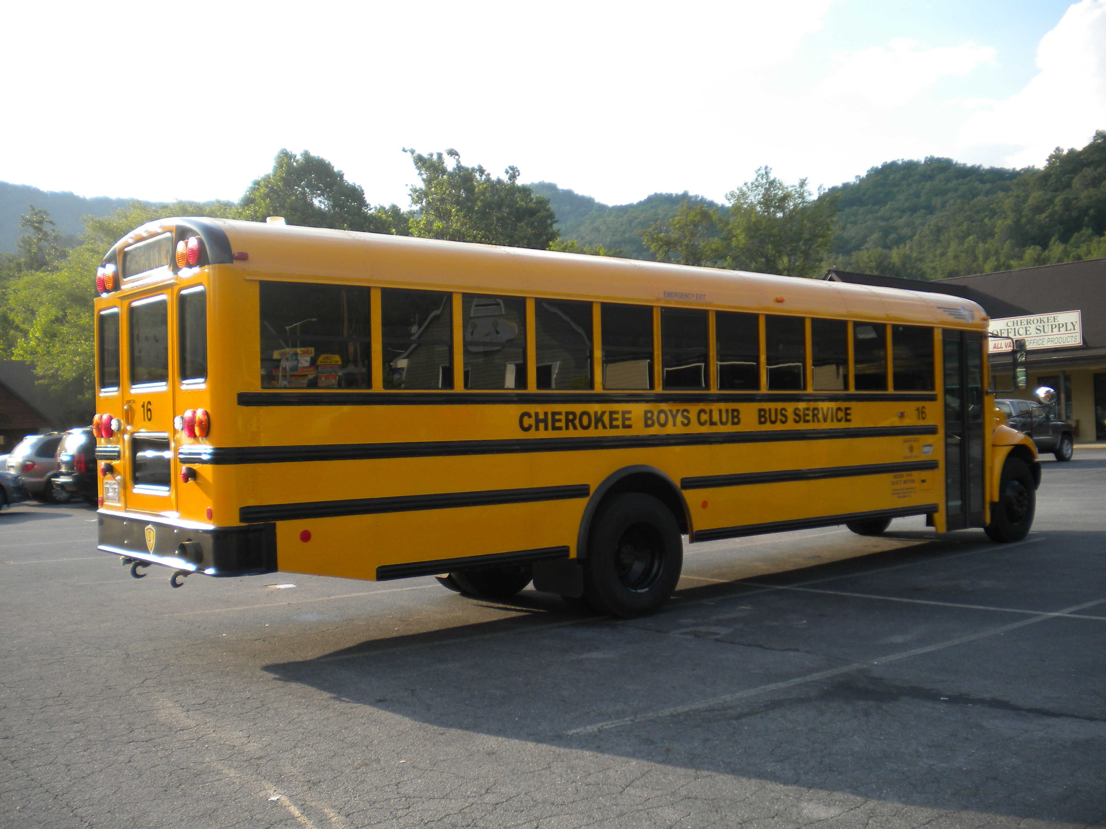 school bus cherokee
