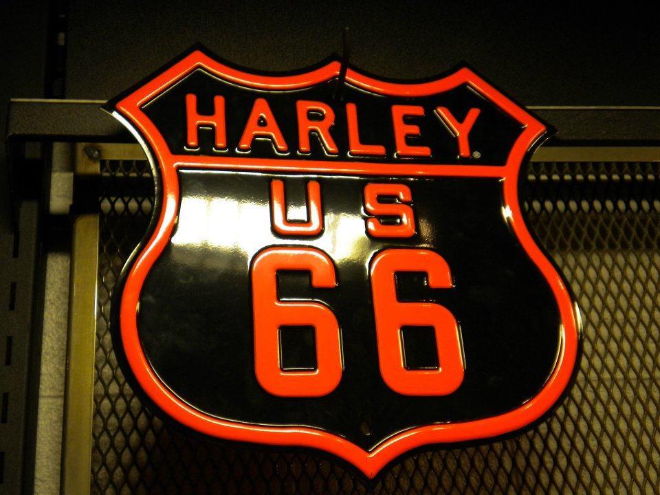 souvenir panneau Harley