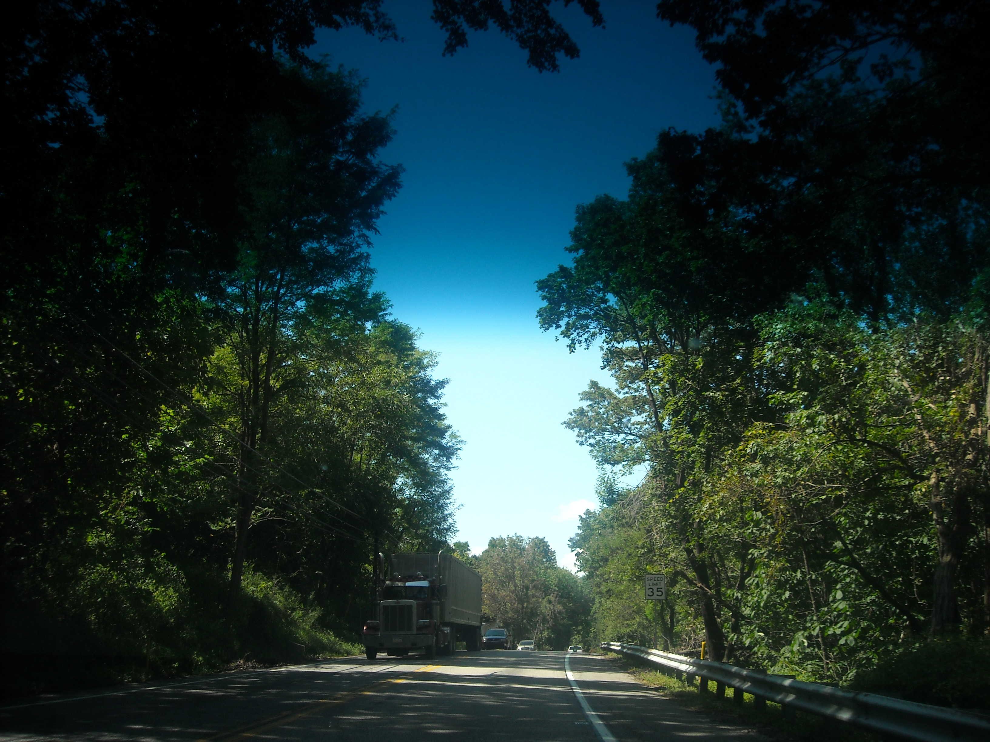 sur la route Pennsylvanie