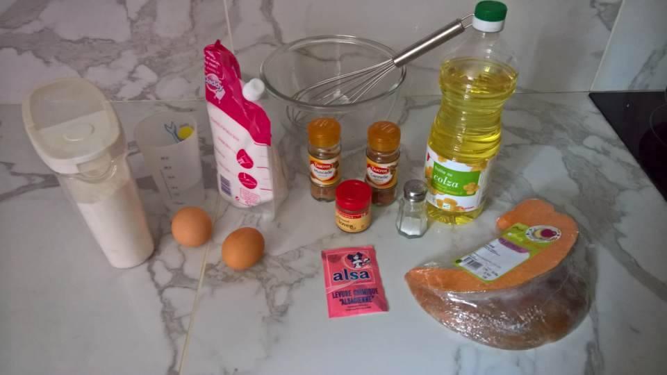 ingrédients pumpkin bread