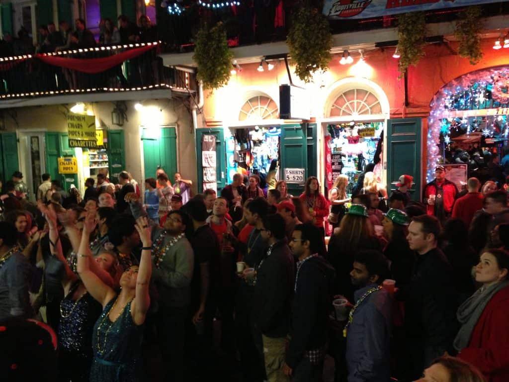 nouvel an sur bourbon street nouvel orléans