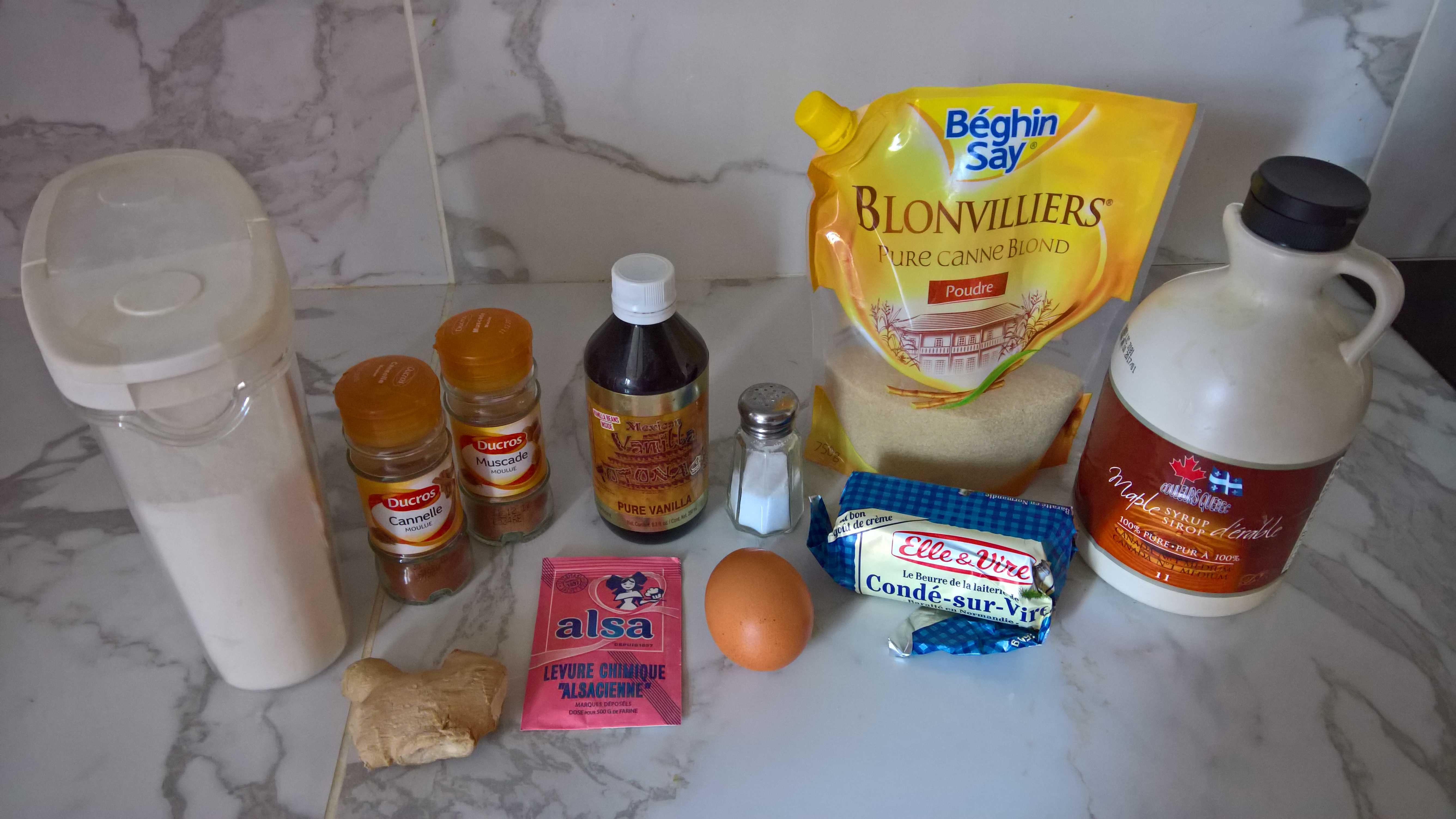 ingrédients gingermen bread