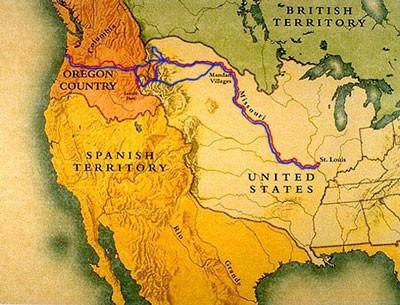 lewis et clark carte expédition