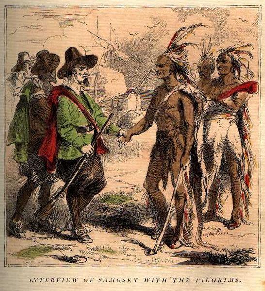 indiens et pélerins