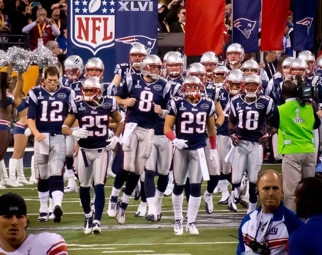 les patriots au Super Bowl
